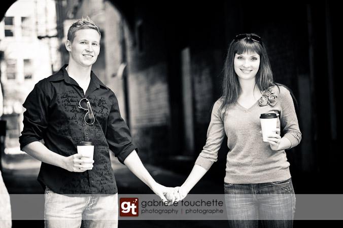 Engagement Photos – Laura & Chris in Winnipeg's Exchange District