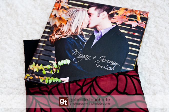Wedding Guest Book Album with Engagement Photos