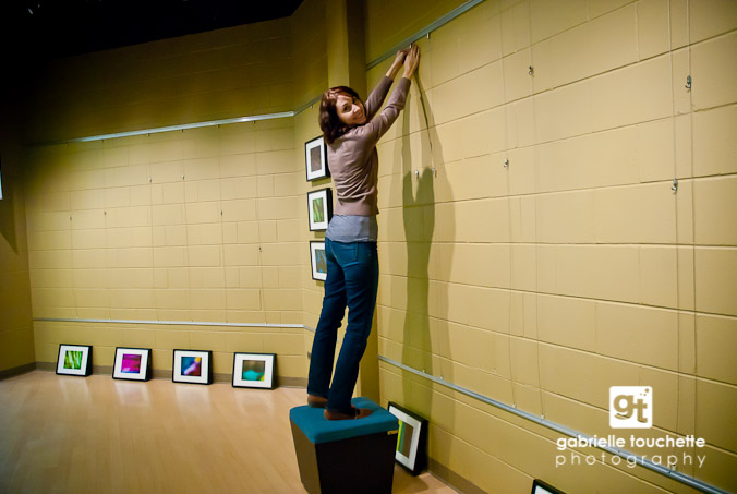 Melissa helping me hang all the frames.