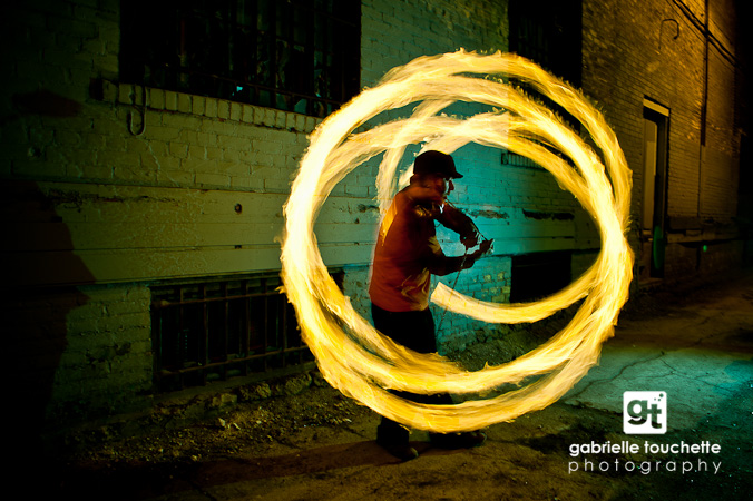 Fire Spinning: Winnipeg Photography