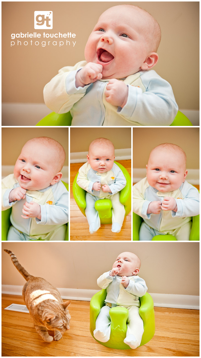 3-month old baby: cutie-pie Caleb