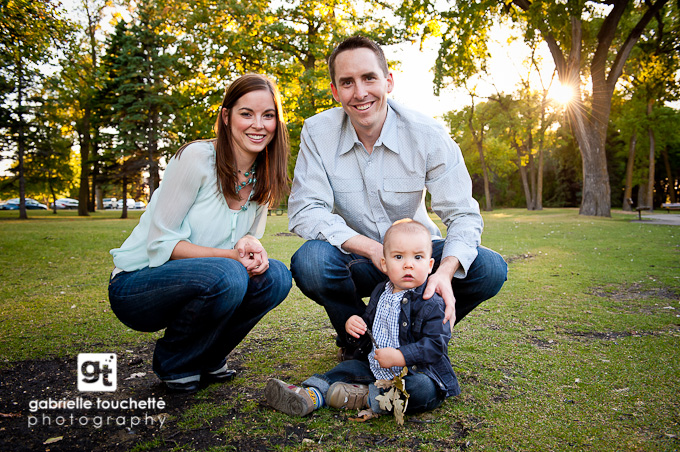 Family Portrait Photography in Winnipeg: with cute little Mason!