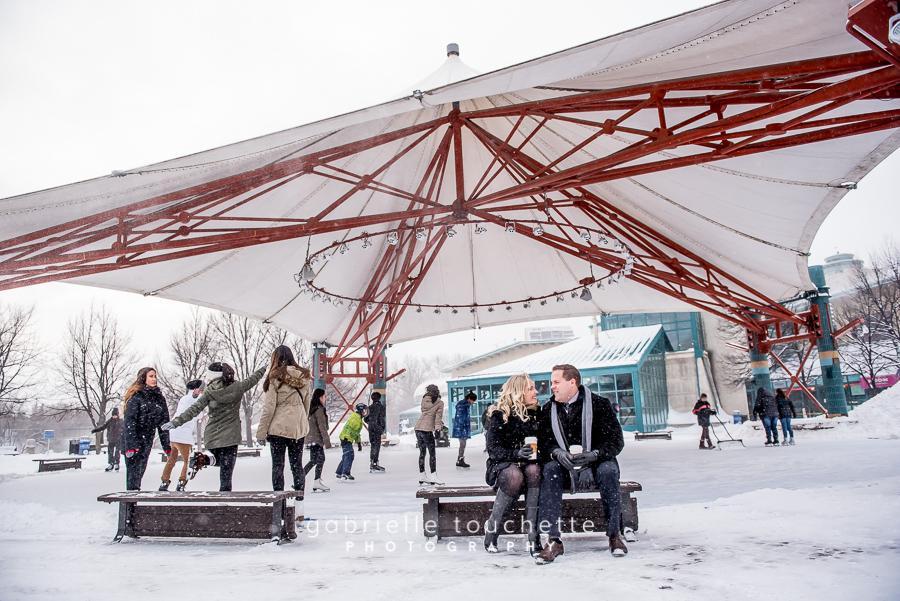 Winter Engagement Photos in Winnipeg