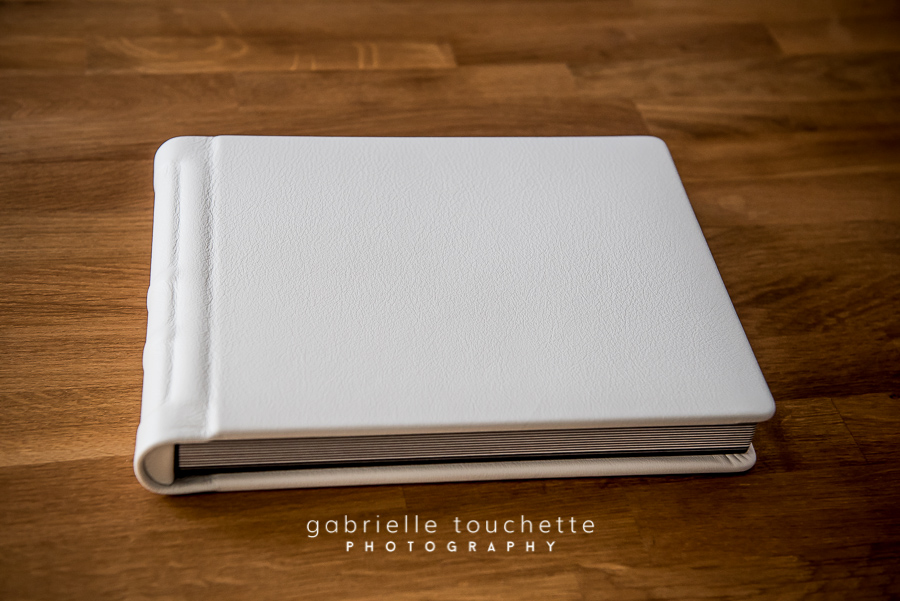 White Leather Newborn Photo Album