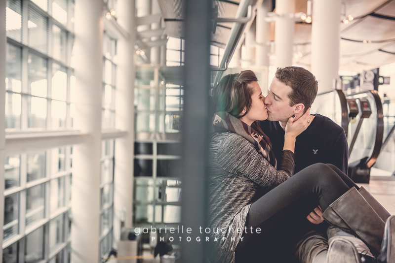 Mara + Stefan: Engagement Photography at the Winnipeg Airport