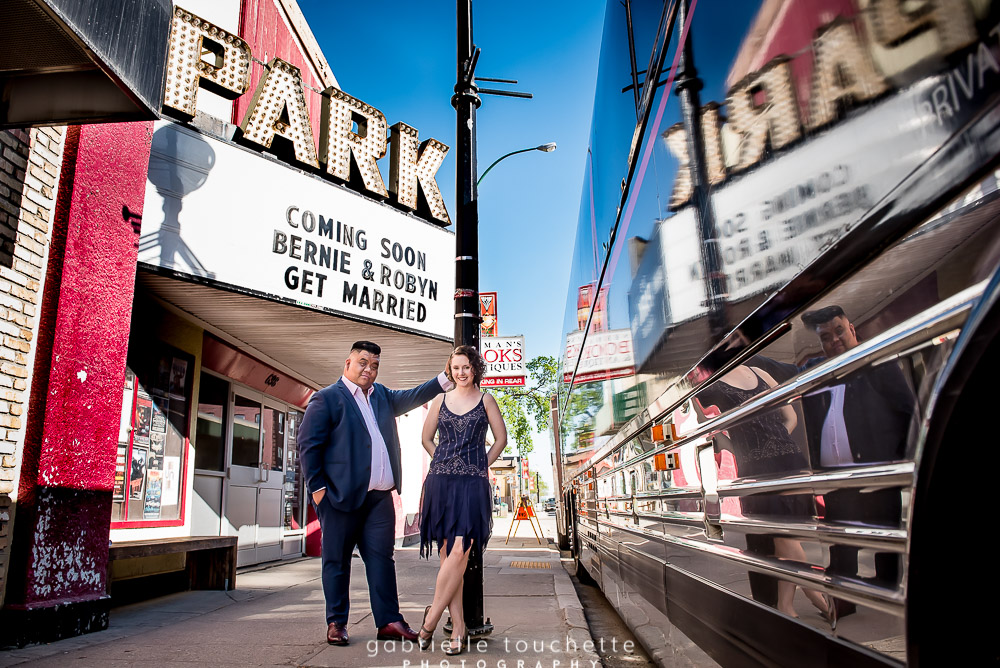 Park Theatre Winnipeg Engagement Photography