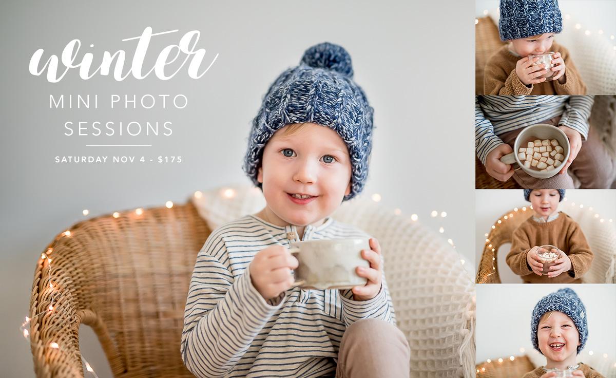 Winter Styled Mini Sessions – Winnipeg Kid Photography